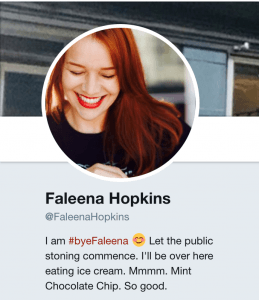faleena hopkins on her trademark cocky